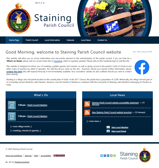 Staining Parish Council website
